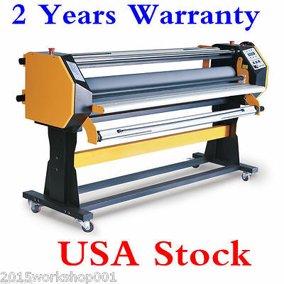 """USA STOCK 67"""" Stand Frame Automatic Single Side Wide Format Hot/Cold Laminator"""