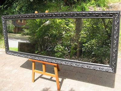 Extra Large Full Length Wall Mirror Ornate Black Frame 2060 x 775mm FREE SYD DEL