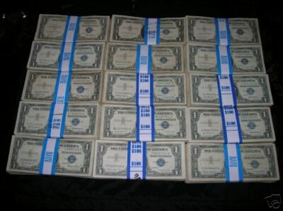 (100) 1935 & 1957 Silver Certificates Nice Collection
