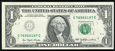 """1977 $1 One Dollar Frn Federal Reserve Note """"insufficient Inking Error"""""""