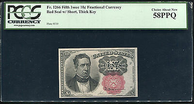 Fr. 1266 Fifth Issue 10 Cent Fractional Currency Pcgs Au-58Ppq