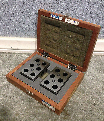Exceptional! Pair Of Mitutoyo Precision Workholding Inspection 1-2-3 Blocks