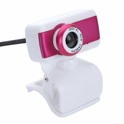 USB 2.0 HD Webcam Camera 1080P With Microphone for Desktop PC Laptop Rose CT