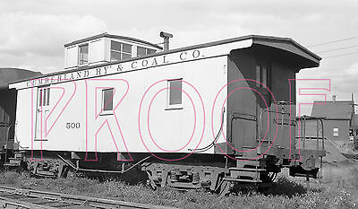 Cumberland Railway & Coal Co. (CR&C) Caboose 500 at Springhill in 1955 - 8x10