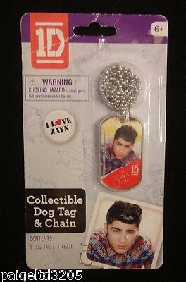 1D One Direction I Love Zayn Collectible Dog Tag & Chain #7104