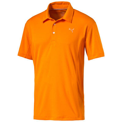 Puma Golf Tech Polo Shirt Climalite Herren orange