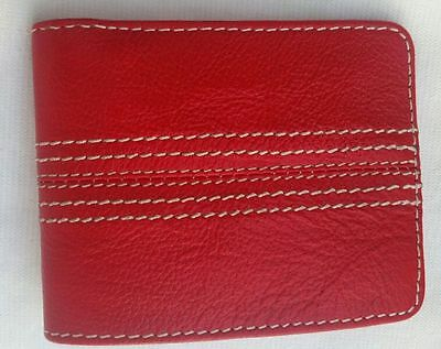 Genuine Leather Handcrafted Cricket Ball Seam Design Wallet,Only £21.95p !
