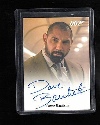 2016 James Bond Archives  Spectre Edition Dave Bautista autographed card #3