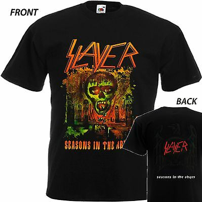 """New T-Shirt """" Slayer Seasons In The Abyss """" Dtg Printed Tee- S- 7Xl"""