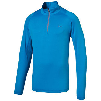 Puma Golf Solid 1/4 ZIP POPOVER Sweater Pullover Dry Cell blau