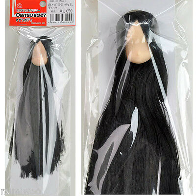 Obitsu 11cm Body bjd Dollfie Natural Head 01 Long Straight Black Rooted Hair