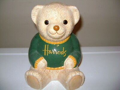 Harrods Of London Bear Ceramic Bank