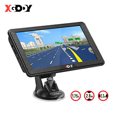 "XGODY 7"" GPS Navigation System Backup Camera Reverse Rear View Bluetooth SAT NAV"