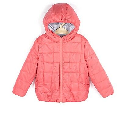 Girls Padded Jacket Size 4-5 Years Reversible New