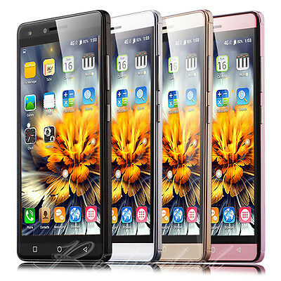 "Unlocked 5"" Touch Quad Core Mobile Phone Dual SIM GPS Android Smartphone 3G UK"