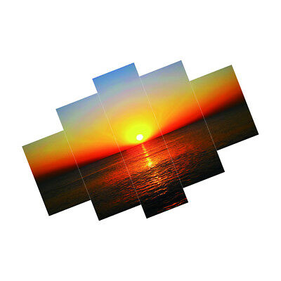 Set of 5pcs Canvas Wall Art Painting Pictures SEASIDE &SUNSET Hanging Decor