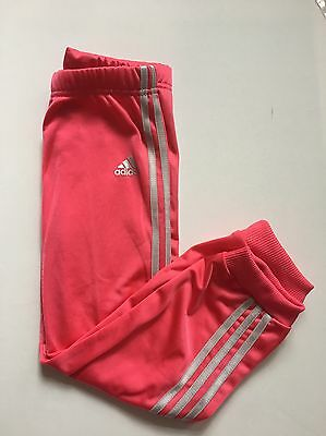 Adidas Girls Three Stripe Poly Joggers Pink/light Pink/Silver 3-4 Years