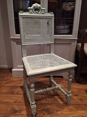 antique carved rattan chair