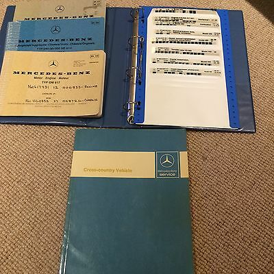 Mercedes Benz G Wagon Original Service Manuals Dates From 1979-1984