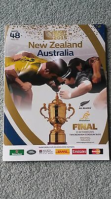 Rugby World Cup Final 2015 Programme Mint Condition