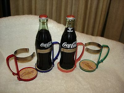 Vintage Lot 4 Coca-Cola or Soda Fountain Plastic Cup Holders With Handles NR