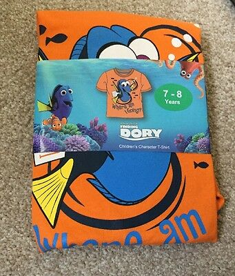 Disney Pixar Finding Dory Child Character T Shirt BNWT Size 7-8 Yrs