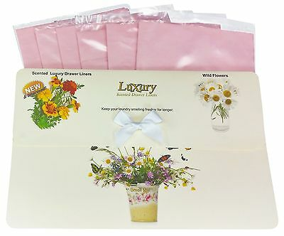 Wild Flowers Scented Luxury Drawer Liners Gift Pack Of 6 Ideal 4 Thank you Gift