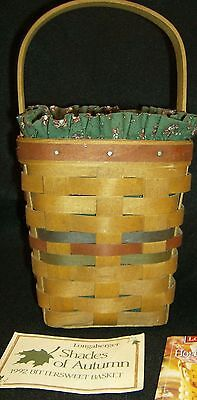 LONGABERGER SET OF TWO Baskets 1992 Autumn and 1997 Inaug. Collectibles