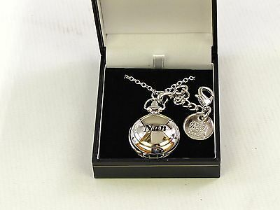 """""""Nan"""" Ladies Pendant & Bag Watch 2 Chains Engraveable Disc - Mother's Day Gift?"""