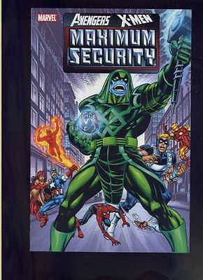 AVENGERS X-MEN MAXIMUM SECURITY TP TPB $39.99 SRP Peter David NEW Free Ship!