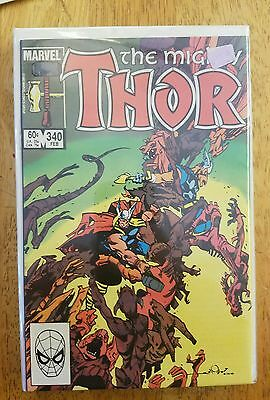 The Mighty Thor #340 - Thor & Beta Ray Bill Battle! - 1984 NM/MT 1984