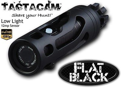 New Tactacam 2.0 Ultra HD 1080p Bow Camera Package Flat Black Stabilizer