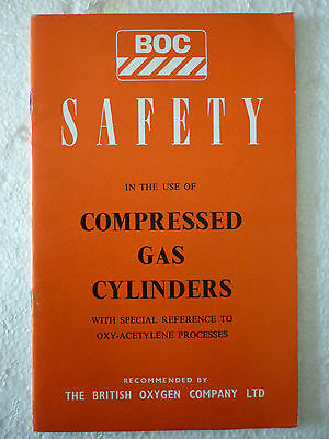 Boc Safety Use Of Compressed Gas Cylinders Book 1974 (British Oxygen Company)