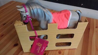 """Our Generation MUSTANG FOAL Horse for 18"""" Dolls Toy Gray Pink - No Accessories"""