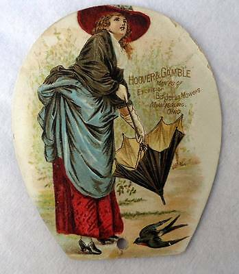 Victorian Trade Card Hoover & Gamble Excelsior Binders Mowers Ohio #45