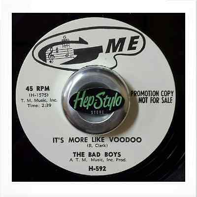 THE BAD BOYS/BIG BOY GROVES 45 RE-IT'S MORE LIKE VOODOO -60s G-ME GREAT STROLLER