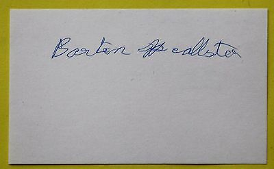 Boxing: Barton McAllister of the United Kingdom Autographed Card