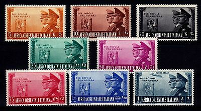 Ww2 Italian East Africa 1941 - Sc# 34 - 40 + C19 Mint Never Hinged