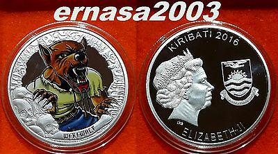 Coins From The Cryp - Kiribati 2016 - Hombre-Lobo - 29 Grs. 40 Mm  Capsula