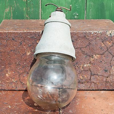Vintage Benjamin Industrial Steampunk Explosion Proof Globe Light