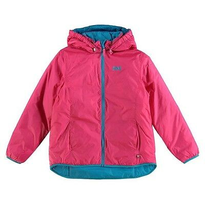 Helly Hansen Girls JR Synergy Insulated Hooded Jacket Magenta Pink 7-8 Years