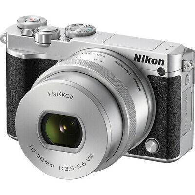 Nikon 1 J5 Mirrorless Digital Camera - Silver with 10-30mm Lens