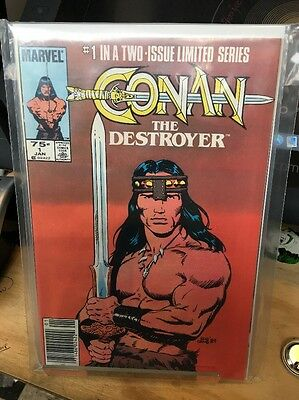 Conan The Destroyer Comic Adaption Issues 1-2 NM Marvel Comics
