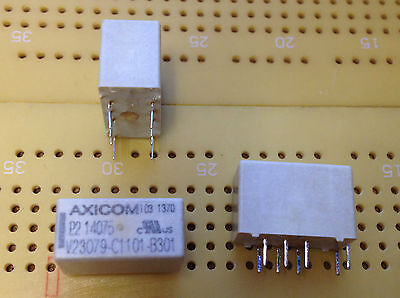 2A DPDT IP67 Latching PCB Relay 5V dc 1-Coil Gold Clad AgNi Contacts Multi Qty