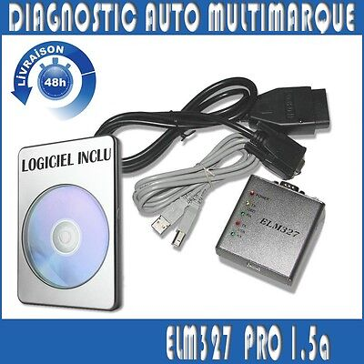 Interface Diagnostique ELM327 1.5 PRO USB en Français - MULTIMARQUES NEUF