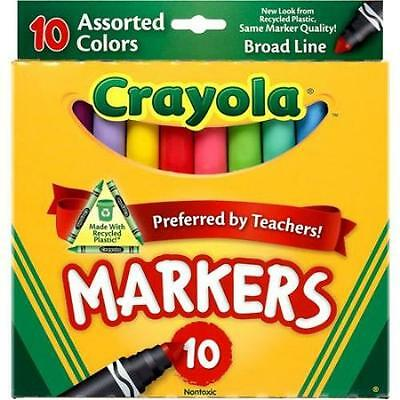 Crayola Broad Line Markers, Classic Colors, 10 Ct.