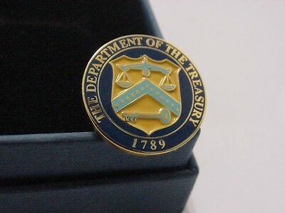 Department of the treasury lapel pin . New