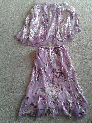 Monsoon Girls Silk  Outfit Age 6 / 8 Yrs