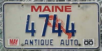 Maine- Antique Auto-License Plate-Lobster or Lobsta