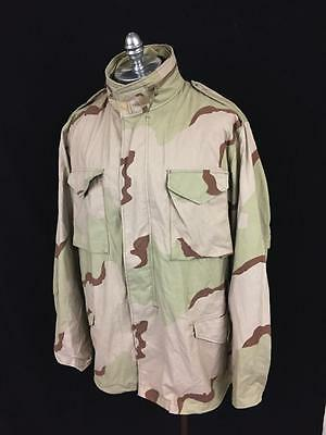 Vintage 90's Us Army M-65 Desert Camo Field Jacket Mens L